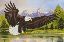 Eagle Over Water by Bob Henry